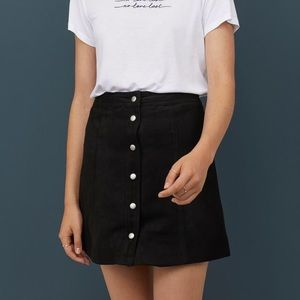 H&M Black short A-line skirt